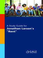 """A Study Guide for Jonathan Larson's """"Rent"""" (lit-to-film)"""