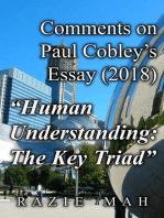 "Comments on Paul Cobley's Essay (2018) ""Human Understanding"