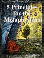 5 Principles for the Metaphysician