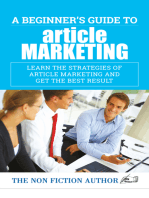 A Beginner's Guide to Article Marketing