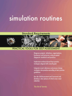 simulation routines Standard Requirements