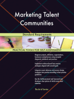 Marketing Talent Communities Standard Requirements