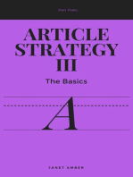 Article Strategy III