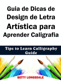 Guia de Dicas de Design de Letra Artística para Aprender Caligrafia