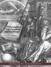Philosophical Melancholy and Delirium: Hume's Pathology of Philosophy