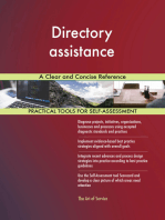 Directory assistance A Clear and Concise Reference