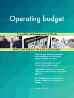 Operating budget Complete Self-Assessment Guide