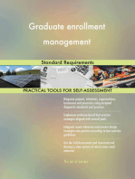 Graduate enrollment management Standard Requirements