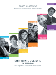 Corporate Culture in Banking