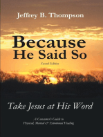 Because He Said so (Second Edition)