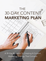 The 30 Days Content Marketing Plan