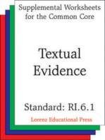 Textual Evidence (CCSS RI.6.1)