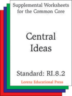 Central Ideas (CCSS RI.8.2)