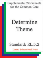 Determine Theme (CCSS RL.5.2)