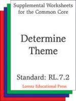 Determine Theme (CCSS RL.7.2)
