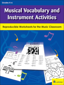 Musical Vocabulary and Instrument Activities: Reproducible Worksheets for the Music Classroom