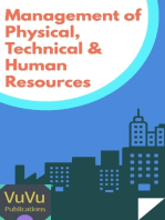 Management of Physical, Technical and Human Resources