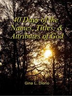 40 Days of the Names, Titles, and Attributes of God