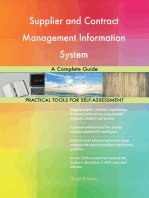 Supplier and Contract Management Information System A Complete Guide