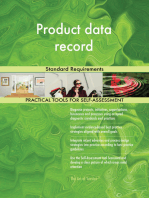 Product data record Standard Requirements