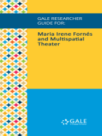 Gale Researcher Guide for: Maria Irene Fornés and Multispatial Theater