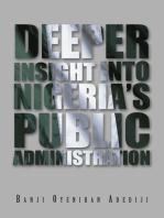 Deeper Insight into Nigeria'S Public Administration