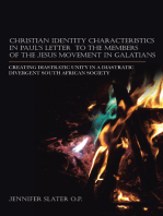 Christian Identity Characteristics in Paul'S Letter to the Members of the Jesus Movement in Galatians