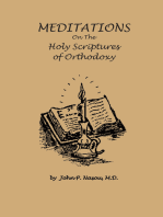 Meditations on the Holy Scriptures of Orthodoxy