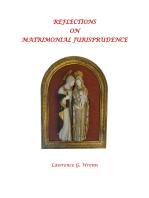 Reflections on Matrimonial Jurisprudence