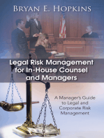 Legal Risk Management for In-House Counsel and Managers