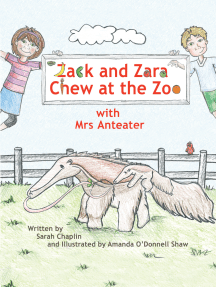 Zack and Zara Chew at the Zoo with Mrs Anteater