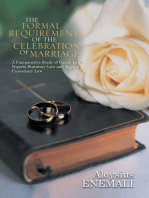 The Formal Requirements of the Celebration of Marriage:
