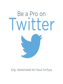 Be a Pro on Twitter