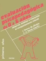 Evaluación psicopedagógica de 0 a 6 años: Observar, analizar e interpretar el comportamiento infantil