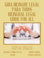 Guia Bilingue Legal Para Todos/ Bilingual Legal Guide for All: Spanish-English/English-Spanish
