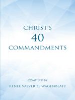 Christ's 40 Commandments