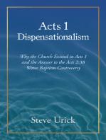 Acts 1 Dispensationalism