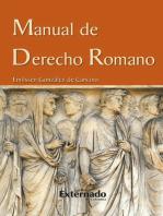 Manual de derecho romano