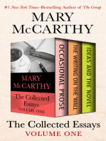 The Collected Essays Volume One