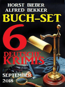 Buch-Set 6 deutsche Krimis September 2018