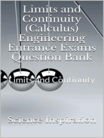 Limits and Continuity (Calculus) Engineering Entrance Exams Question Bank