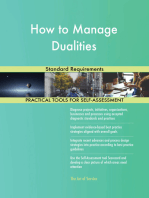 How to Manage Dualities Standard Requirements
