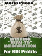 Writing How To Information for Big Profits