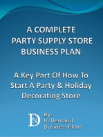 A Complete Party Supply Store Business Plan