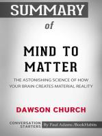 Summary of Mind to Matter