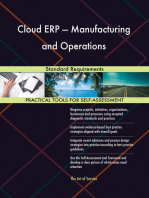 Cloud ERP — Manufacturing and Operations Standard Requirements