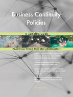 Business Continuity Policies A Complete Guide