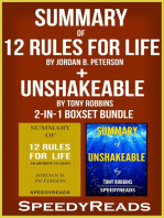 Summary of 12 Rules for Life: An Antidote to Chaos by Jordan B. Peterson + Summary of Unshakeable by Tony Robbins 2-in-1 Boxset Bundle