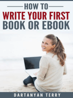 How To Write Your First Book Or Ebook