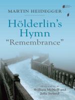 "Hölderlin's Hymn ""Remembrance"""